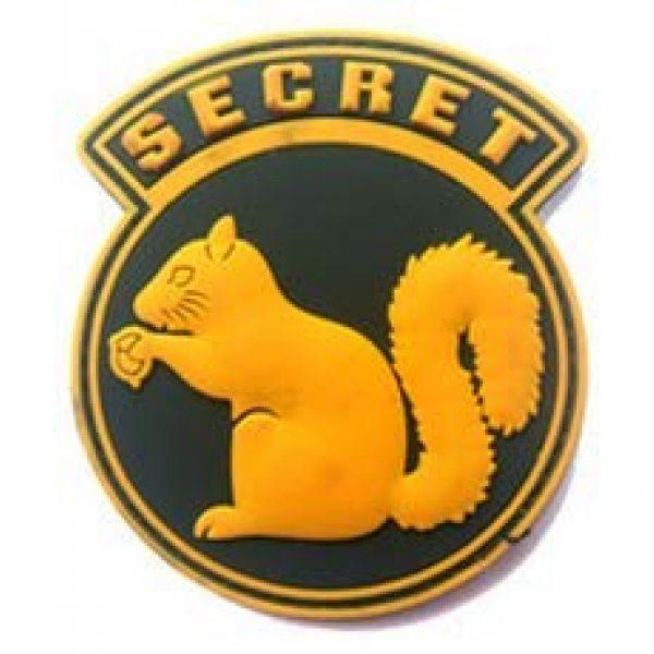 Tactical PVC Patch Airsoft Morale Patch 4 Secret Squirrel Morale Military Patch 3D PVC Rubber Tactical Rubber Hook Patch (4pcs)