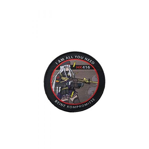 Generic Airsoft Morale Patch 1 Girls' Frontline - Griffin Kryuger: HK 416, Hook Loop Tactics Morale Woven Anime Patch