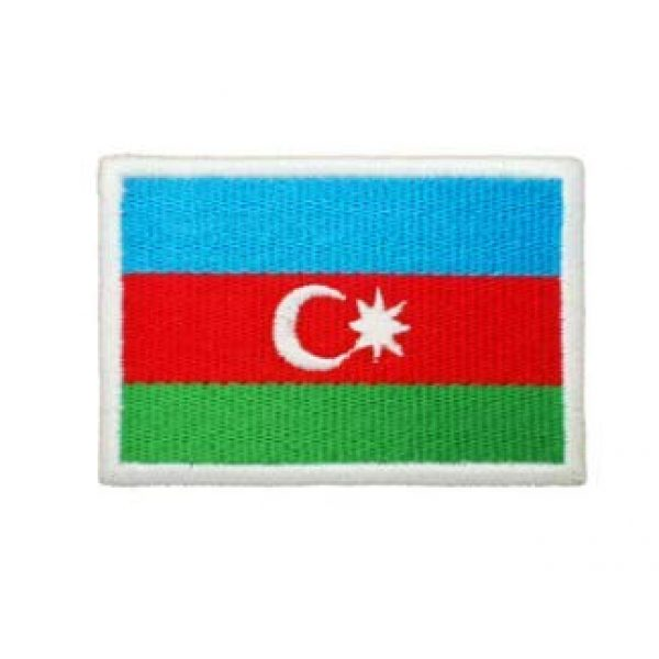 Tactical Embroidery Patch Airsoft Morale Patch 1 Azerbaijan Flag Embroidery Patch Military Tactical Morale Patch Badges Emblem Applique Hook Patches for Clothes Backpack Accessories