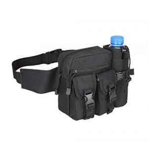 Jipemtra Tactical Pouch 1 Fanny Pack Tactical Water Bottle Waist Pack Military Fanny Packs MOLLE Army Waist Bag Utility Hip Belt EDC Pack Bag for Outdoors Traveling Camping Hunting Running Cycling Fishing Dog Walking