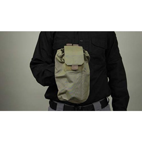 5.11 Tactical Pouch 5 5.11 Tactical Expandable Large Drop Pouch, 10-Inch Storage, Water/Weather Resistant, Style 58703