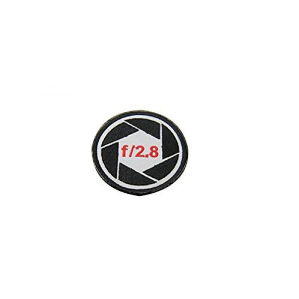 Tactical Morale Patch Airsoft Morale Patch 1 Camera Patch f/2.8 Shutter Cap Hat Jacket Bag Case Cover T-Shirt Canon,Nikon Morale Patch Hook Backing