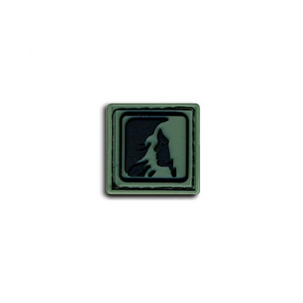 BASTION Airsoft Morale Patch 1 Bastion Tactical Combat Badge PVC Morale Patch Hook and Loop Patch - Virgo Drk Grn