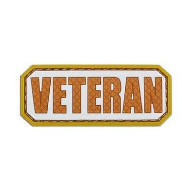 Tactical PVC Patch Airsoft Morale Patch 3 Veteran Morale Military Patch 3D PVC Rubber Tactical Rubber Hook Patch (4pcs)