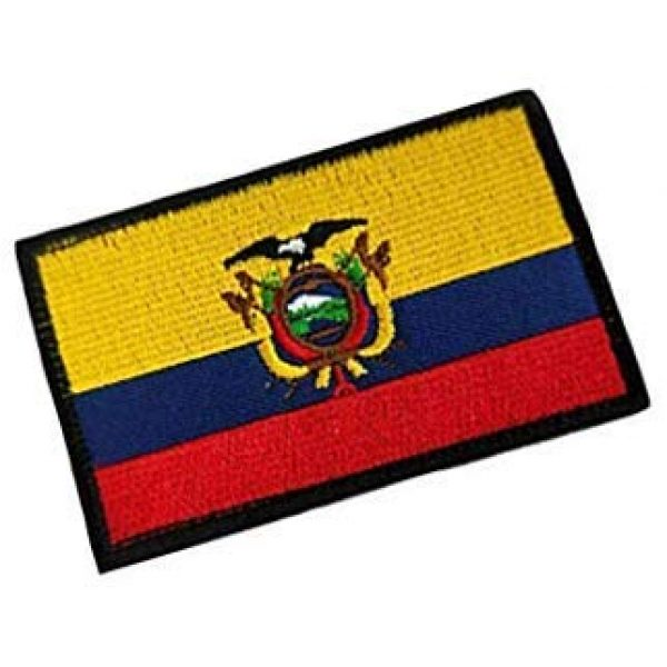 Embroidery Patch Airsoft Morale Patch 2 Ecuadorian Flag Patch Military Hook Loop Tactics Morale Embroidered Patch