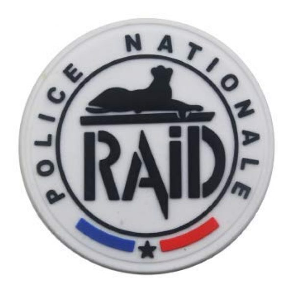 Tactical PVC Patch Airsoft Morale Patch 1 France Raid Flag PVC Military Tactical Morale Patch Badges Emblem Applique Hook Patches for Clothes Backpack Accessories