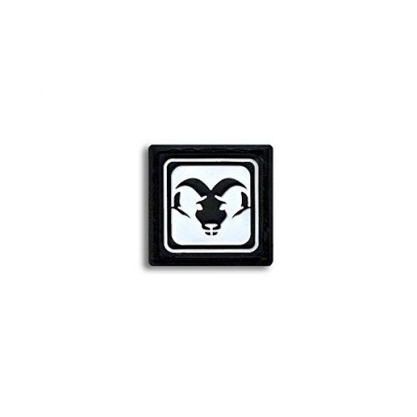 BASTION Airsoft Morale Patch 1 Bastion Tactical Combat Badge PVC Morale Patch Hook and Loop Patch - Aries BNW