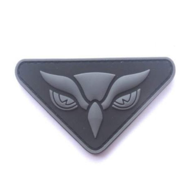 Tactical PVC Patch Airsoft Morale Patch 1 Owl Face PVC Military Tactical Morale Patch Badges Emblem Applique Hook Patches for Clothes Backpack Accessories