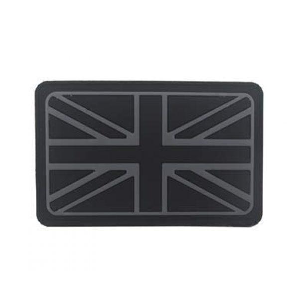 Tactical PVC Patch Airsoft Morale Patch 1 UK United Kingdom Flag Morale Military Patch 3D PVC Rubber Tactical Rubber Hook Patch (color2)