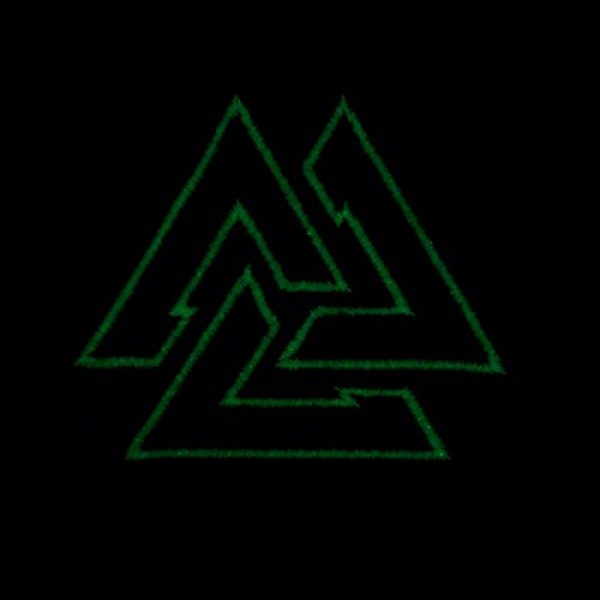 LEGEEON Airsoft Morale Patch 3 LEGEEON Glow Dark Valknut Viking Norse Rune Morale Tactical Sew Iron on Patch