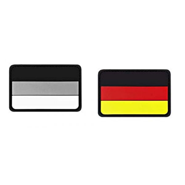 Tactical PVC Patch Airsoft Morale Patch 1 Germany Flag PVC Military Tactical Morale Patch Badges Emblem Applique Hook Patches for Clothes Backpack Accessories