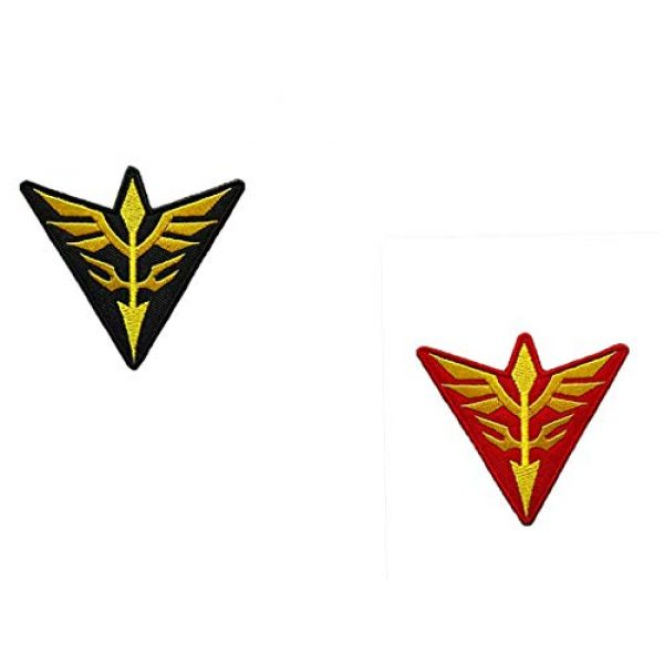 Embroidery Patch Airsoft Morale Patch 1 2 Pieces Mobile Suit Gundam -Zeon Military Hook Loop Tactics Morale Embroidered Patch (color3)