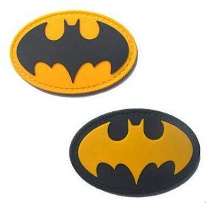 PVC PATCH Airsoft Morale Patch 1 2 Pieces Batman Military Hook Loop Tactics Morale PVC Patch (color3)