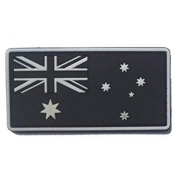 Tactical PVC Patch Airsoft Morale Patch 1 Australia Flag PVC Military Tactical Morale Patch Badges Emblem Applique Hook Patches for Clothes Backpack Accessories