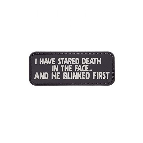 """5ive Star Gear Airsoft Morale Patch 1 5ive Star Gear """"i Have Stared Death Quote Morale Patch, One Size, Multi-Colored"""