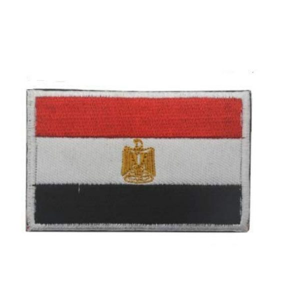 Tactical Embroidery Patch Airsoft Morale Patch 1 Egypt Flag Embroidery Patch Military Tactical Morale Patch Badges Emblem Applique Hook Patches for Clothes Backpack Accessories