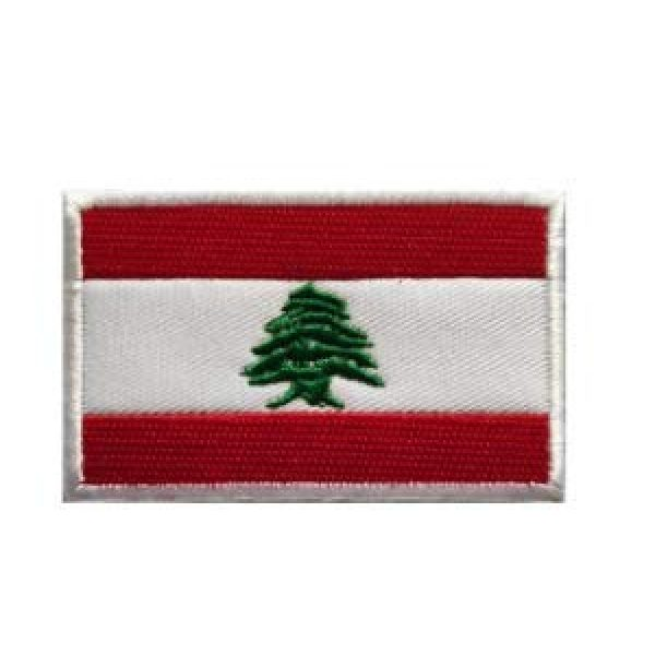 Tactical Embroidery Patch Airsoft Morale Patch 1 Lebanon Flag Embroidery Patch Military Tactical Morale Patch Badges Emblem Applique Hook Patches for Clothes Backpack Accessories