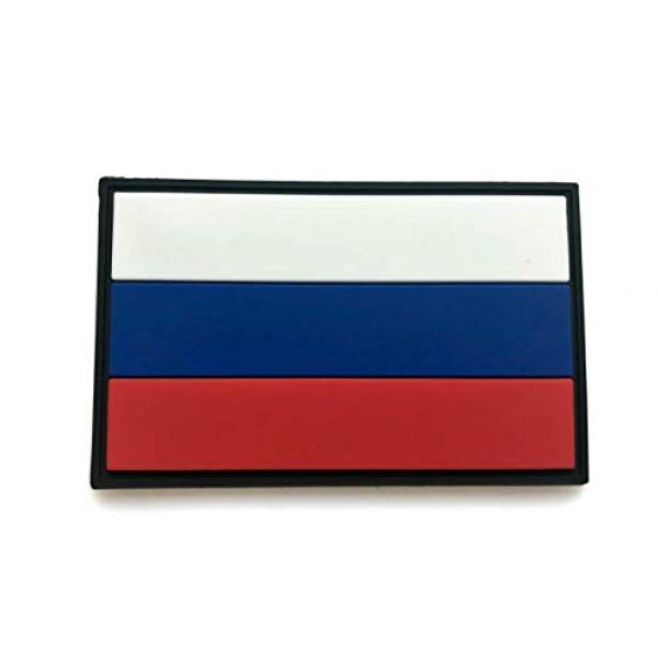 Tactical PVC Patch Airsoft Morale Patch 2 Russia Flag PVC Military Tactical Morale Patch Badges Emblem Applique Hook Patches for Clothes Backpack Accessories