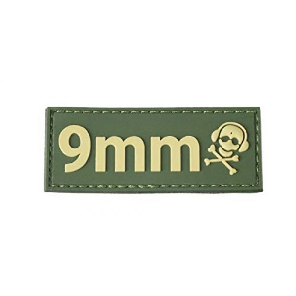G-CODE Airsoft Morale Patch 1 G-CODE Caliber Patch - TAN on OD Green - (9mm)