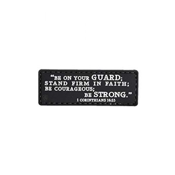 """5ive Star Gear Airsoft Morale Patch 1 5ive Star Gear """"1 Corinthians 16:13"""" Quote Morale Patch, One Size, Multi-Colored"""