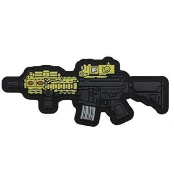 Tactical PVC Patch Airsoft Morale Patch 1 MK18 Gun Morale Military Patch 3D PVC Rubber Tactical Rubber Hook Patch