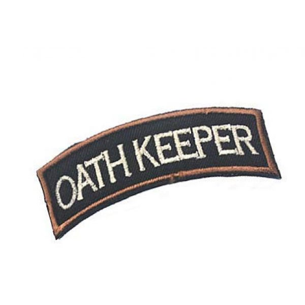 Embroidery Patch Airsoft Morale Patch 2 Oath Keeper Military Hook Loop Tactics Morale Embroidered Patch
