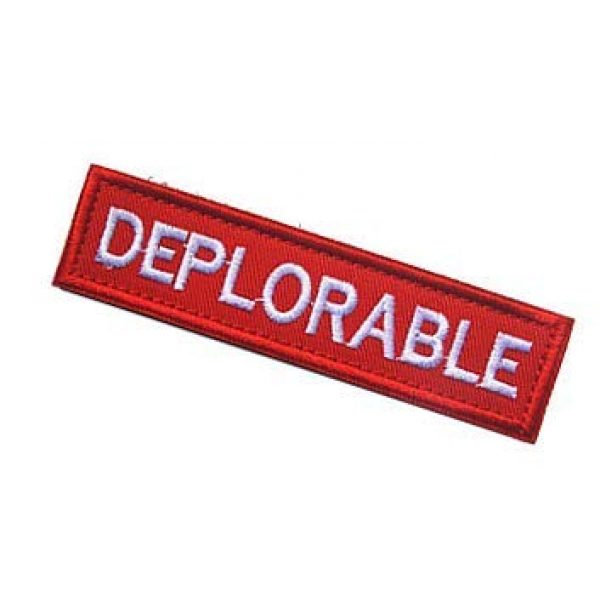 Embroidery Patch Airsoft Morale Patch 3 Deplorable Military Hook Loop Tactics Morale Embroidered Patch (color2)