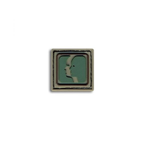 BASTION Airsoft Morale Patch 1 Bastion Tactical Combat Badge PVC Morale Patch Hook and Loop Patch - Gemini Lite Grn