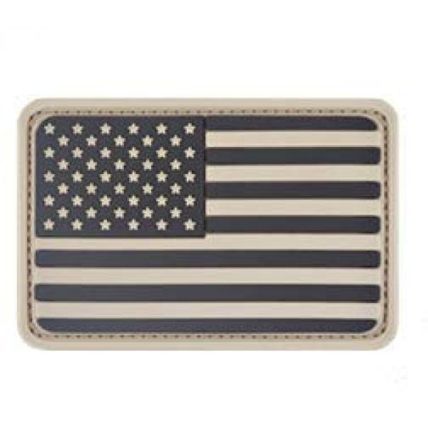 Tactical PVC Patch Airsoft Morale Patch 1 USA Flag PVC Military Tactical Morale Patch Badges Emblem Applique Hook Patches for Clothes Backpack Accessories