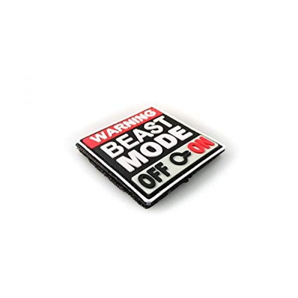 """Tactical Innovations Canada Airsoft Morale Patch 2 PVC Morale Patch - Beast Mode - Glow in Dark - 2""""x2"""""""