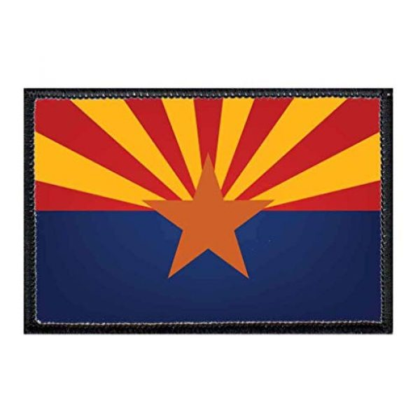 P PULLPATCH Airsoft Morale Patch 1 Arizona State Flag - Color Morale Patch | Hook and Loop Attach for Hats, Jeans, Vest, Coat | 2x3 in | by Pull Patch