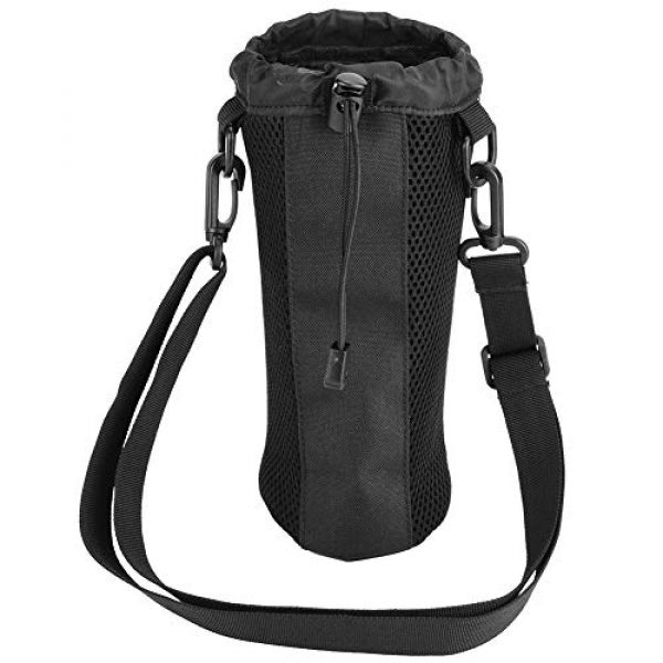 Alomejor Tactical Pouch 1 Alomejor Water Bottle Pouch Sport Water Bottle Kettle Bag with Adjustable Shoulder Strap for Camping Hiking Running