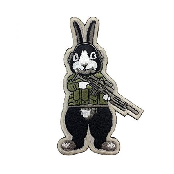 Unknown Airsoft Morale Patch 3 Patches 3D Tactical Military Rabbit Dog Embroidery Patch Morale Patches Emblem Badges Appliques Combat Embroidered Patches for Clothing - (Color: Dog)