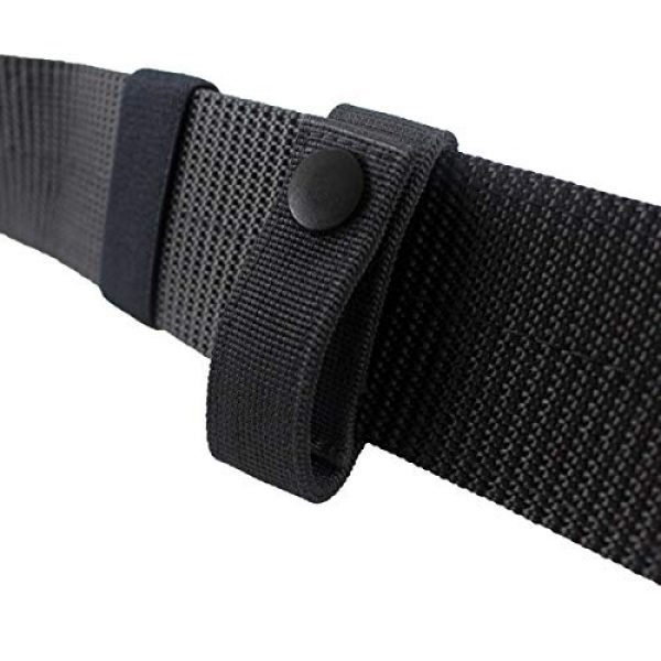 """Aolamegs Tactical Pouch 5 Aolamegs (2 Pack Nylon Handcuff Strap Holder,Handcuff Case,Single Snap,Slide-On fits 2 1/4"""" in Belts,Black,"""
