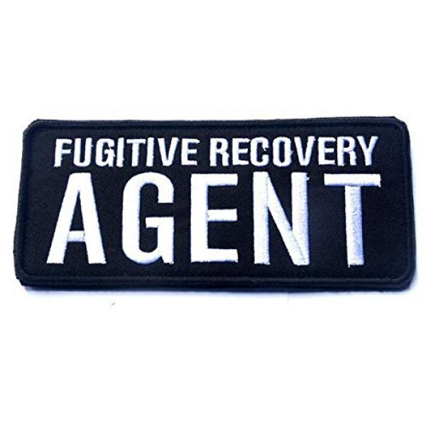 Embroidered Patch Airsoft Morale Patch 1 Fugitive Recovery Agent 3D Tactical Patch Military Embroidered Morale Tags Badge Embroidered Patch DIY Applique Shoulder Patch Embroidery Gift Patch