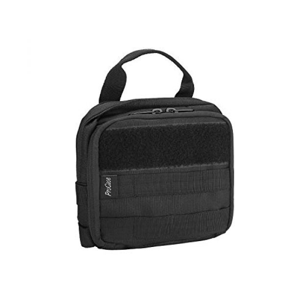 ProCase Tactical Pouch 1 ProCase Tactical MOLLE Pouch, Compact EDC Military Admin Utility Gadget Waist Bag Water-Resistant Multi-Purpose Gear Tool Map Organizer EMT Medical First Aid Kit -Black