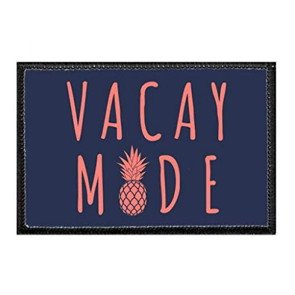 P PULLPATCH Airsoft Morale Patch 1 Vacay Mode - Pineapple - Dark Blue Morale Patch   Hook and Loop Attach for Hats, Jeans, Vest, Coat   2x3 in   by Pull Patch