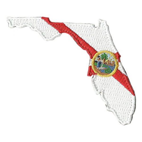 "Gadsden and Culpeper Airsoft Morale Patch 1 Die Cut Florida State Patch - 2"" x 3"""