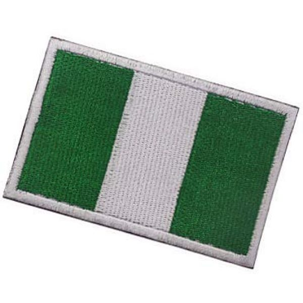 Embroidery Patch Airsoft Morale Patch 3 Nigerian Flag Patch Military Hook Loop Tactics Morale Embroidered Patch