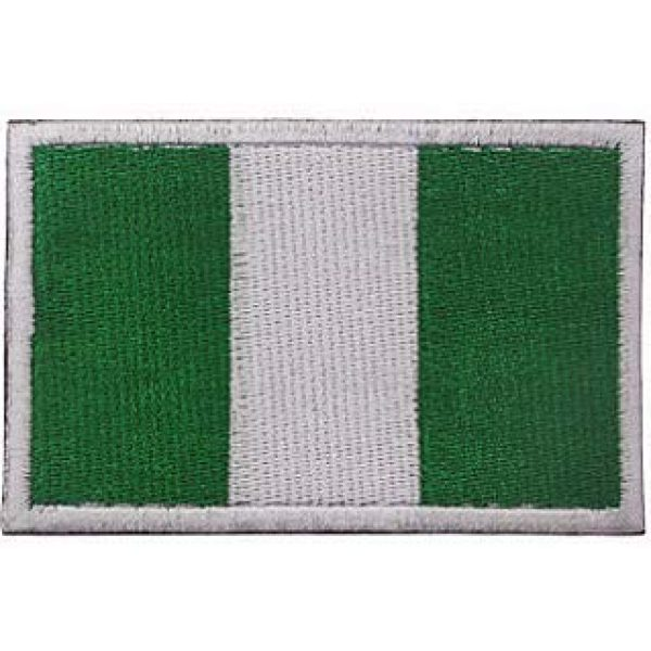 Embroidery Patch Airsoft Morale Patch 1 Nigerian Flag Patch Military Hook Loop Tactics Morale Embroidered Patch