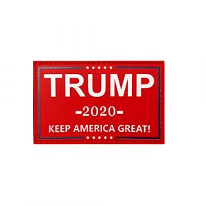 HSQ Airsoft Morale Patch 1 HSQCEZ US Donald Trump Flag Patch with Velcro,red President 2020 Keep America Great Flags Tactical PVC Hook Patch,Tactical Patch Pride Flag Velcro Patch for Clothes Hat Patch Team Military Patch