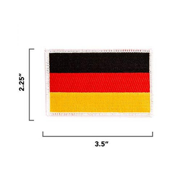 Desert Cactus Airsoft Morale Patch 2 Germany Flag Patch Single 3.5Wx2.25H Iron On Sew Embroidered Tactical Morale Back Pack Hat Bags (Single Patch)