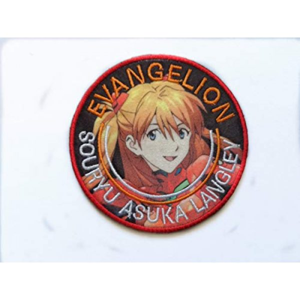 Embroidery Patch Airsoft Morale Patch 1 Japan Anime Evangelion Patch Military Hook Tactics Morale Embroidered Patch Asuka Langley Soryu