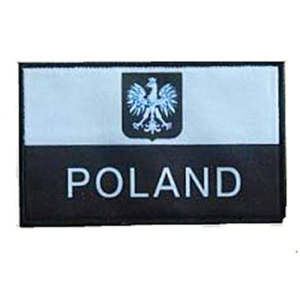 Fine Print Patch Airsoft Morale Patch 1 Polish Poland Flag Poland Eagle Military Hook Loop Tactics Morale Patch