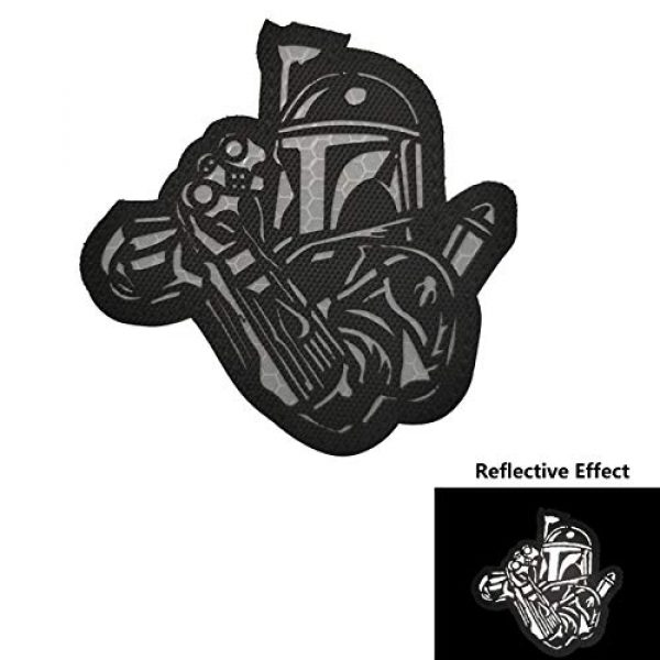 APBVIHL Airsoft Morale Patch 3 4 Pack Infrared IR Reflective Star Wars Mandalorian This is The Way Full Helmet Patch - Fastener Hook and Loop Backing Tactical Military Morale Appliques Emblem Badges