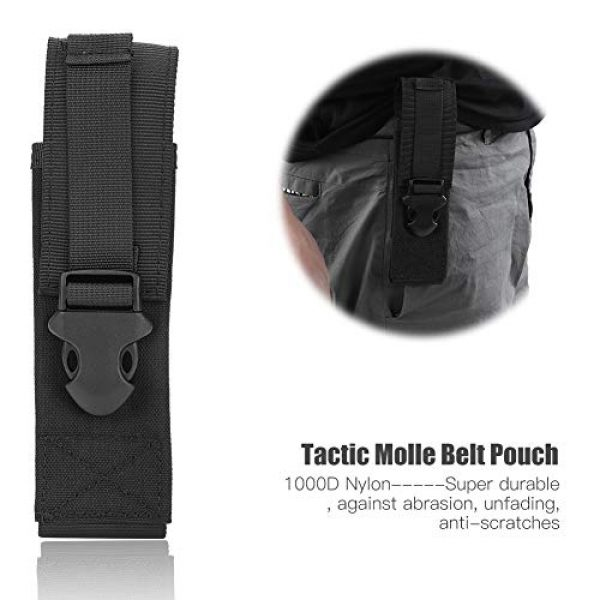 Yencoly Tactical Pouch 4 Yencoly Military Belt Pouch, Tactic Pouch, Tear Resistant Lightweight for Outdoor