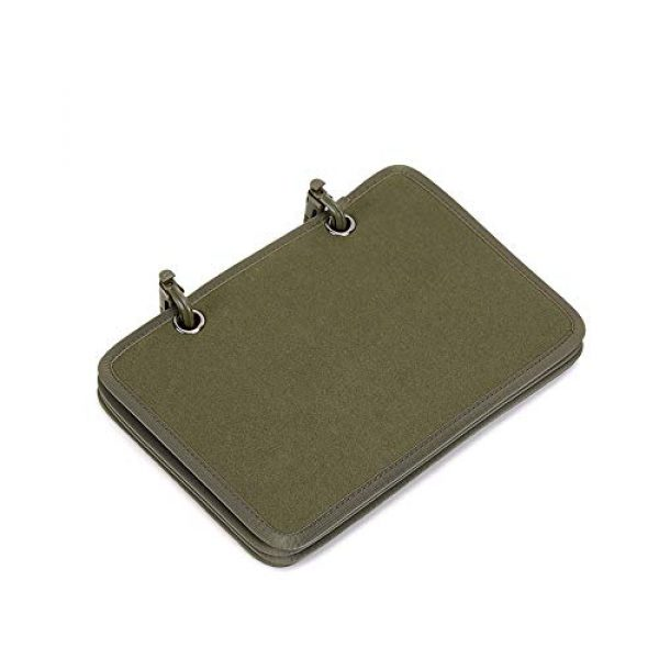 JINGZ Airsoft Morale Patch 2 Army Fan Flip-Page Patch Book Tactical Patches Display Board Military Patch Holder Morale Badge Organizer Booklet (Green)