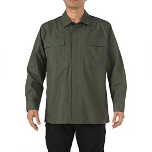 5.11 Tactical Shirt 1 5.11 Tactical Men's Ripstop TDU Long Sleeve Shirt, Teflon Treated, Style 72002