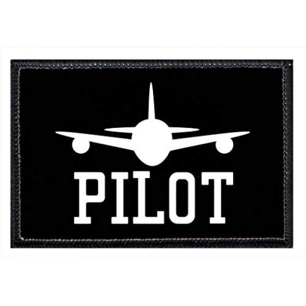 P PULLPATCH Airsoft Morale Patch 1 Pilot Morale Patch   Hook and Loop Attach for Hats, Jeans, Vest, Coat   2x3 in   by Pull Patch
