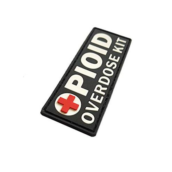 Tactical Innovations Canada Airsoft Morale Patch 2 PVC Morale Patch - OPIOID Overdose Kit (Patch Only)